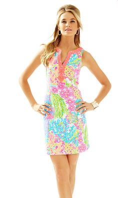 Lilly Pulitzer Ryder Shift Dress - Lovers Coral