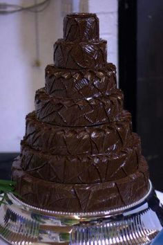 Death by Chocolate:D. gosh i would be so proud to make a cake that tall