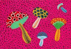 Immagine di http://uploads6.wikiart.org/images/yayoi-kusama/mushrooms-1995.jpg.