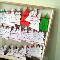 Recycled Christmas Card Advent Calendar ~ there's still time to put one together!