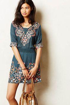 Rhona Stitched Peasant Dress