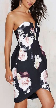 #summer #style black floral dress @wachabuy