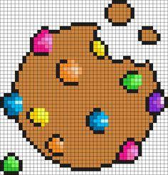 Giant Cookie Perler Perler Bead Pattern / Bead Sprite