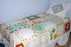Vintage hankie quilt! What a fabulous idea!