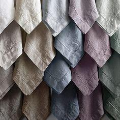 Something Ivory: Earthy Linen Napkins (Restoration Hardware: Stonewashed Belgian Linen Hemstitch Dinner Napkins)
