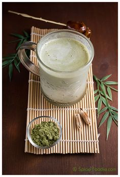 Matcha Latte sweetened with dates; Green Tea; Matcha; Latte; milk; warm; drink; blender; tea; Matcha