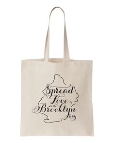 Brooklyn NY Wedding Welcome Tote Bag by BRIGHTIDEASbyRachael