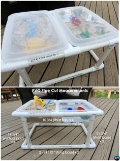 DIY PVC Pipe Water Sand Bin-20 PVC Pipe DIY Projects For Kids