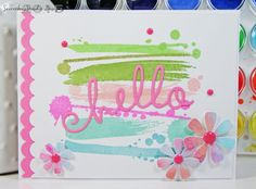Watercolor Hello! by tkcspot - Cards and Paper Crafts at Splitcoaststampers