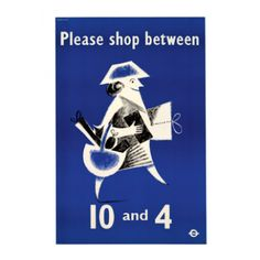 Please Shop Between 10 and 4 - Transport for London Posters - Shop by range - Wallpaper | Fired Earth