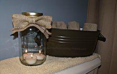 DIY Burlap Bow Mason Jar Candle Holder #CGC #CleanHands