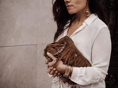 Killer Heels, Day To Night Outfit, Fringe Bags, Casual Look, The Chic, Chic Outfits, Dressing, How To Wear, Pants