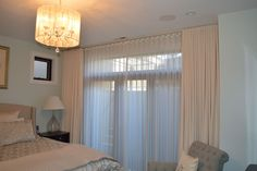 Blackout Ripplefold with Ceiling Mount - Spruce Interiors Blackout Draperies, Contemporary Bedroom, Drapery, Ripplefold Draperies, Ripple Fold Drapes, Curtains, Interior, Home Decor, Window Coverings