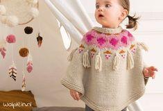 Mädchenponcho – gratis Strickanleitung Girl Poncho – Free Knitting Pattern from Phildar Partner 6 on Wollplatz. Baby Knitting Patterns, Knitting Designs, Baby Patterns, Knitting Patterns Free, Free Knitting, Knitted Hats Kids, Knitting For Kids, Knitting For Beginners, Crochet Hats