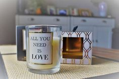 All You Need Is Love Quote Luxury Candle Scented Sandalwood and White Jasmine in Home, Furniture & DIY, Home Decor, Candles & Tea Lights | eBay!