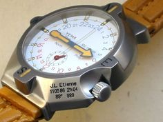 Vintage watches - Yema watch designed for a 1986 North Pole expedition Big Watches, Luxury Watches, Cool Watches, Rolex Watches, Watches For Men, Amazing Watches, Beautiful Watches, North Pole Expedition, Mens Fashion Wear