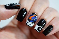 Stark Motor Racing nails inspired by the SPEED Loot Crate t-shirt