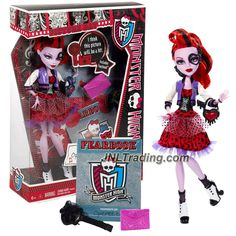 Mattel Year 2012 Monster High Picture Day Series 11 Inch Doll Set - OPERETTA with Purse, Folder, Fearbook, Hairbrush and Doll Stand