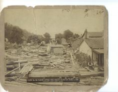 The devastation left from the flood back on June Clinton County, Old Time Photos, Keystone State, Educational Programs, Local History, Historical Society, Vintage World Maps, The Past, June
