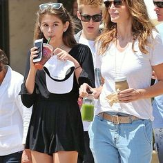Kaia Gerber and her family