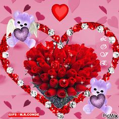 Beautiful Nature Wallpaper, Beautiful Gif, Beautiful Flowers, Funny Good Morning Quotes, Bear Wallpaper, L Love You, Valentines Day Hearts, Exotic Flowers, Loving U