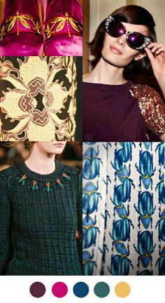 Color Collective palette - Tory Burch Fall 2013