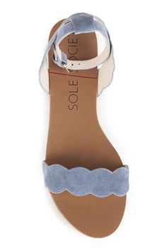 huge discount 80949 00b62 Scalloped suede sandal   Sole Society Odette Suede Sandals, Flat Sandals,  Sock Shoes,
