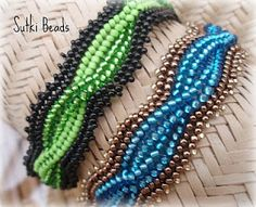 Beaded Cable Bracelet -tip, don't let your tension get too tight so it lays flat. It's beautiful!