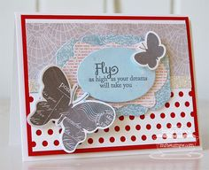 Blissful Butterflies; Blissful Butterflies Die-namics; Peek-a-Boo Dots Die-namics; Well Worn Greetings Di;e-namics; Heirloom Label Die-namics - Inge Groot