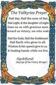 Viking Death Prayer