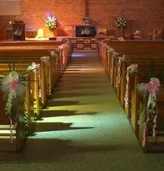 Simple Church Wedding Decorations