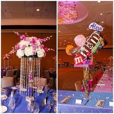 Bat Mitzvah Centerpieces, Candy Sweet Party Theme - mazelmoments.com