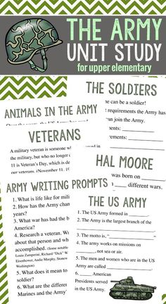 The Army Unit Study for Upper Elementary for homeschooler!