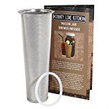 Stainless Steel Filter for Cold Brewed Coffee, Iced Coffee and Iced Tea Maker Infuser for Use With 2 Quart Wide Mouth Mason Jars