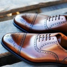 I have a thing with a punched toe on show boots, apparently that carries over into men's dress shoes.