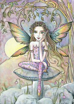 Fairy Art: Cecelia at Dusk by Artist Molly Harrison