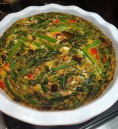 Healthy, dairy-free quiche with loads of veggies