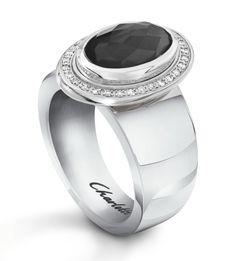 oval hematite and diamond ring