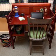Amazing transformation: Baby changing table to desk!