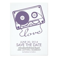 Purple Wedding Save the Date Cards The Perfect Mix Wedding Save the Date {purple} Card