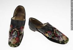 Man's Slippers - needlepoint - 1860s - The McCord Museum
