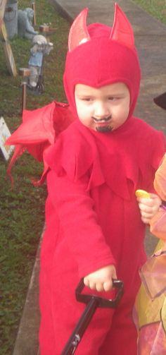 little spitfire / devil costume (3rd halloween)
