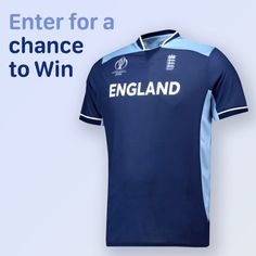 WIN- England Cricket Team Poly T-Shirt - Navy/Blue