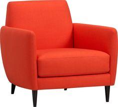 parlour atomic orange chair  | CB2