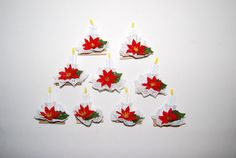 Christmas Ornaments Bead Candles by ChristmasVintage on Etsy, $14.50