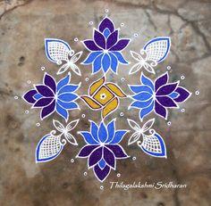 Rangoli and Art Works: Margazhi - Day 27 Kolam (15-1 DOTS)