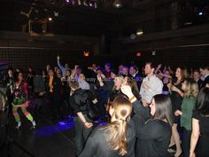 The crowd danced and sang all night and in general had a blast. Thank you to the Sci fi channel, the Hudson Hotel and Elena for producing such a great event!