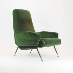 Italian Armchairs, Comfort with Unusual and Unconventional Lines, Milano, 1950s | From a unique collection of antique and modern lounge chairs at https://www.1stdibs.com/furniture/seating/lounge-chairs/