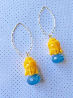 Buddha Serenity Hoop Earrings