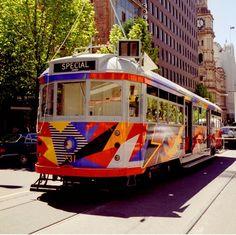 A colourful Melbourne tram